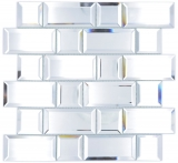 Spiegelmosaik Spiegel Fliesen Glasmosaik Mosaikfliese Spiegel Wand Fliesenspiegel Küche Dusche Bad MOS180-05_f