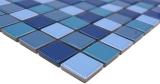 Handmuster Mosaikfliese Keramikmosaik blau grün türkis glänzend Fliesenspiegel MOS18-0408_m