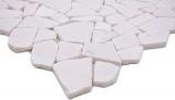 Handmuster Mosaik Fliese Marmor Naturstein Bruch Ciot weiß MOS44-0102_m