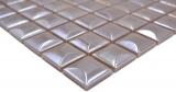 Handmuster Mosaik Fliese ECO Recycling GLAS ECO coffee metallic 3DF MOS350-24_m