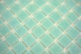 Handmuster Mosaikfliese Glas grün Wandfliesen Badfliese Duschrückwand Fliesenspiegel MOS200-A62-N_m
