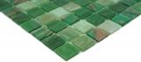 Handmuster Mosaikfliese Glas Goldensilk grün Wandfliesen Badfliese Duschrückwand Fliesenspiegel MOS54-0504_m