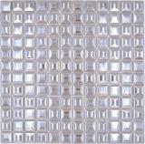 Mosaik Fliese ECO Recycling GLAS ECO coffee metallic 3DF MOS350-24_f | 10 Mosaikmatten