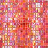 Mosaikfliese Glas rot Wandfliesen Badfliese Duschrückwand Fliesenspiegel MOS58-0902_f | 10 Mosaikmatten