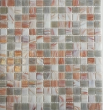 Mosaikfliese Glas Goldensilk hellbeige Wandfliesen Badfliese Duschrückwand Fliesenspiegel MOS54-0104_f | 10 Mosaikmatten