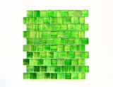 Mosaikfliese Transluzent Glasmosaik Crystal Struktur grün klar gefrostet MOS78-CF83_f | 10 Mosaikmatten