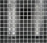Mosaikfliese Transluzent schwarz Glasmosaik Crystal schwarz MOS60-0304_f | 10 Mosaikmatten