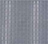 Mosaikfliese Transluzent grau Glasmosaik Crystal hellgrau BAD WC Küche WAND MOS70-0204_f | 10 Mosaikmatten