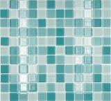 Mosaikfliese Transluzent grün Glasmosaik Crystal grün BAD WC Küche WAND MOS62-0602_f | 10 Mosaikmatten