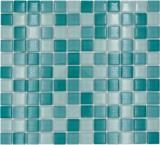 Mosaikfliese Transluzent grün Glasmosaik Crystal grün BAD WC Küche WAND MOS72-0602_f | 10 Mosaikmatten