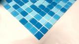 Schwimmbadmosaik Poolmosaik Aktion blau Mix vorderseitig Papier verklebt - MOS52-0402_Papier