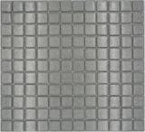 Mosaik Rückwand Transluzent Glasmosaik Crystal silber gehämmert MOS70-0207_f