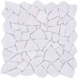 Mosaik Fliese Marmor Naturstein Bruch Ciot weiß MOS44-0102_f