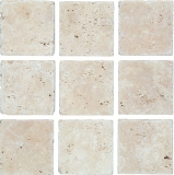 XNT 47048 Mosaikfliese Quadrat silver silber Antique Travertine | 1 Bogen